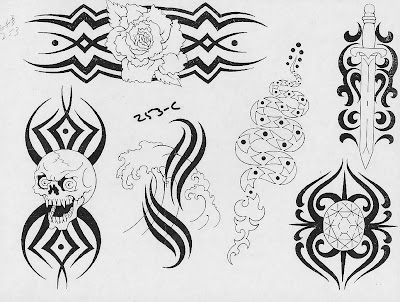 Tattoo Flash Coloring Pages