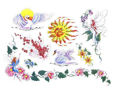 Tattoo Flash Art Designs. dragon tattoo flash art.