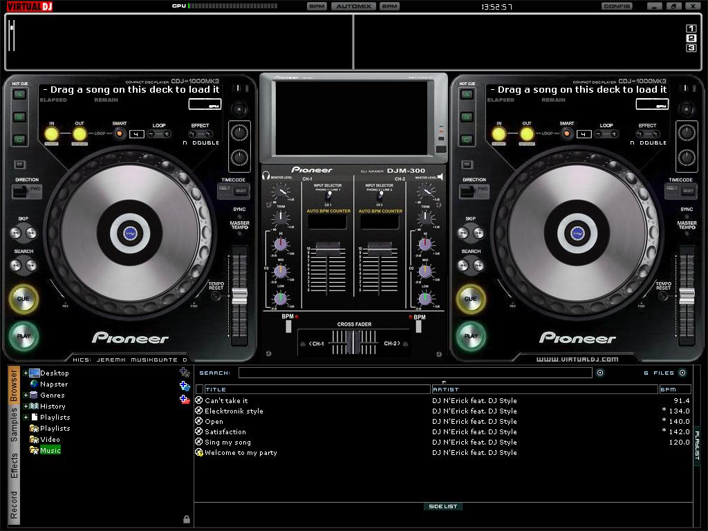 dj techniques mixing and software tools virtual dj. Black Bedroom Furniture Sets. Home Design Ideas
