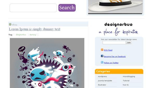 DesignOrbus Magazine Blogger Template