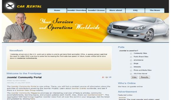 banner design templates. Design Template For Joomla
