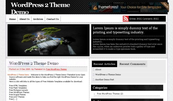 Texture Black Gray Wordpress Theme