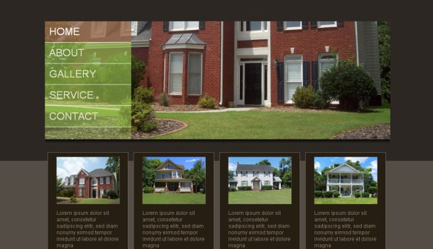 Land Broker Brown Green CSS Website Template