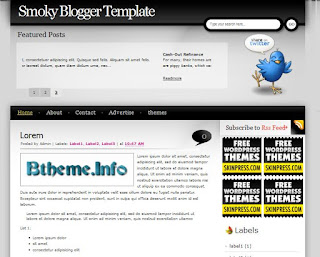 Smoky Blogger Template