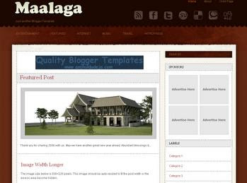 Maalaga Blogger Template