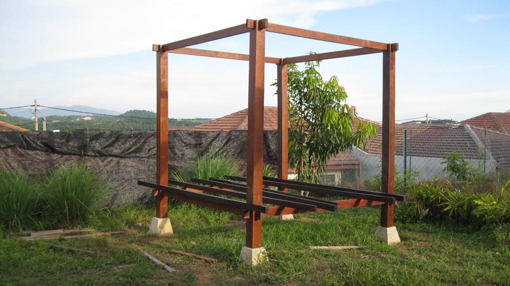 cara membuat pondok kayu