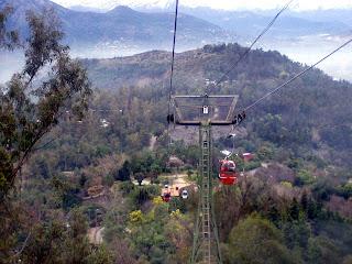 Paseo en teleférico, Cerro San Cristóbal