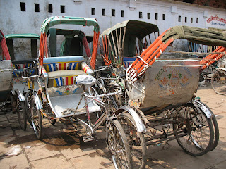Bicycle rickshaws