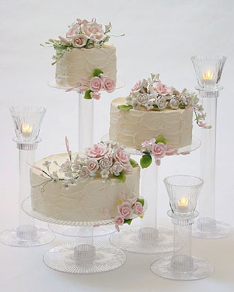 Instead of having a traditional wedding cake go for several layers cakes
