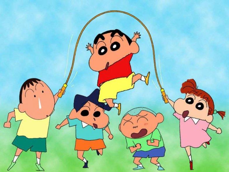 ... dibujos infantiles de shin chan para ninos shin chan saltando a la