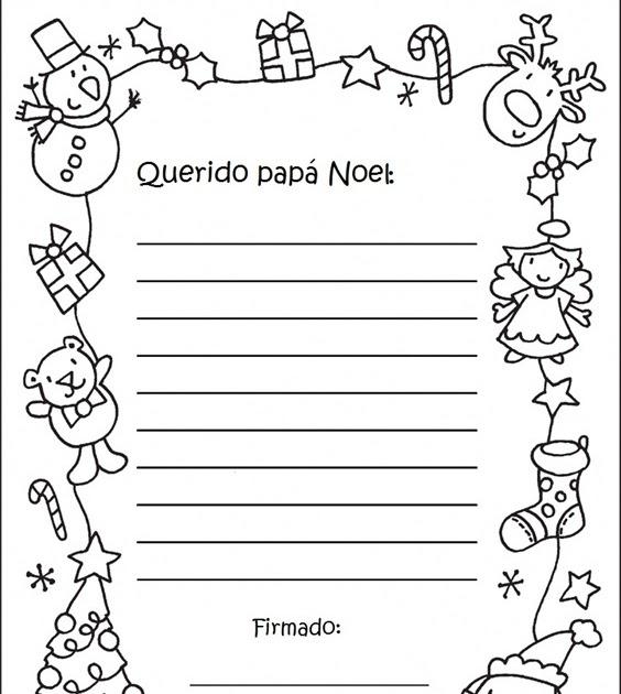 Lujoso Página Para Colorear De Santa Carta Foto - Ideas Para ...