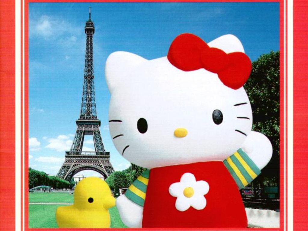 Gratis Fondo De Pantalla De Hello Kitty En Paris Para Ni  Os Para Tu