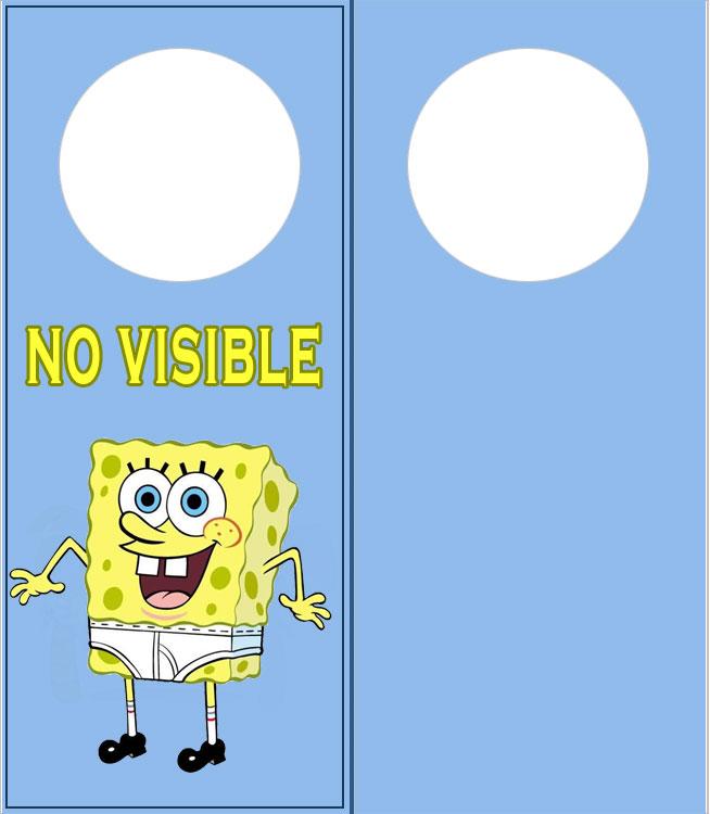 Colgadores para puertas de bob esponja no visible cosas - Puertas para ninos ...