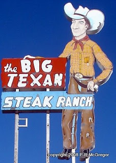 The Big Texan sign in Amarillo