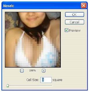 efek sensor photoshop mozaic
