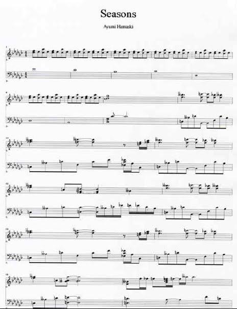 Free piano sheet music for seasons by ayumi hamasaki