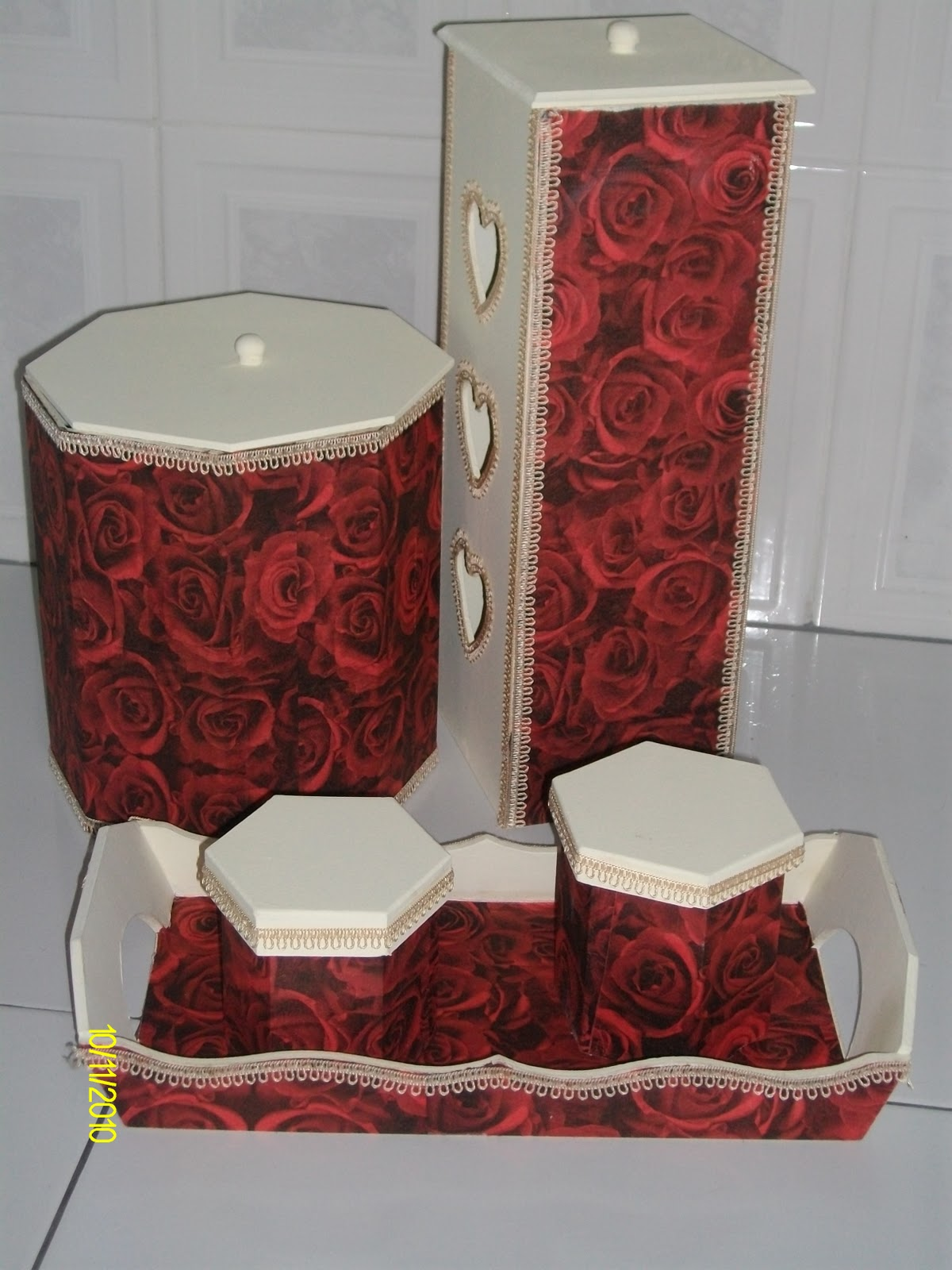 Adesivo De Banheiro Pastilha ~ Maná artesanato kit de banheiro