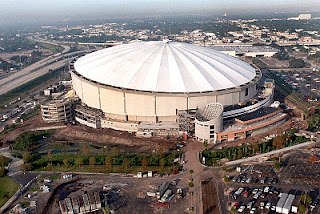 Bird's view of Tropicana Field