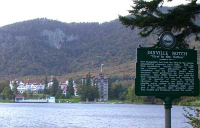 View across the lake of the Balsams