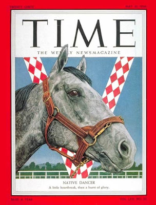 'The Gray Ghost' - Native Dancer on the cover of Time magazine (1954)