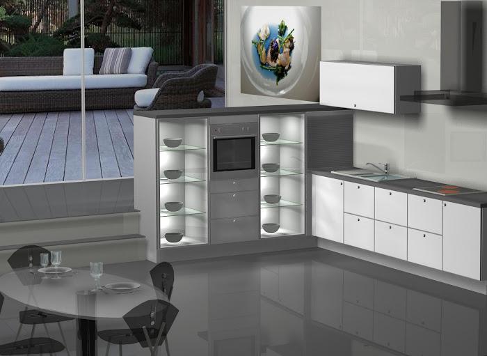 Diseño de cocina con terraza