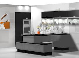 Original cocina en blanco y negro