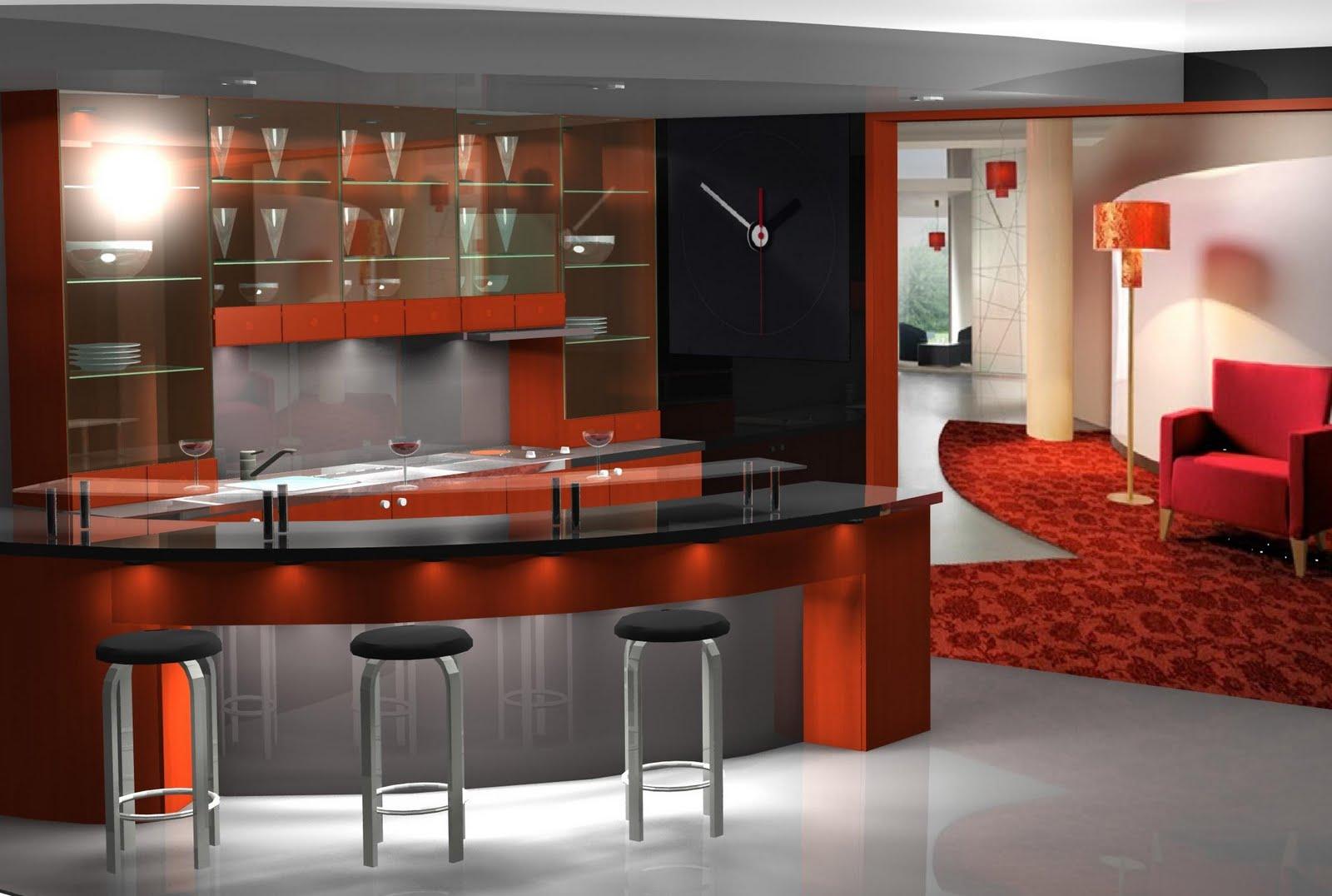 Dise o muebles de cocina dise o de peque a barra para for Bar para cocina