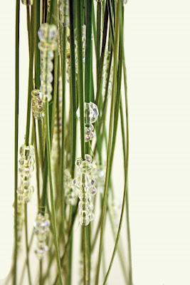 steelgrass pärlor brudbukett
