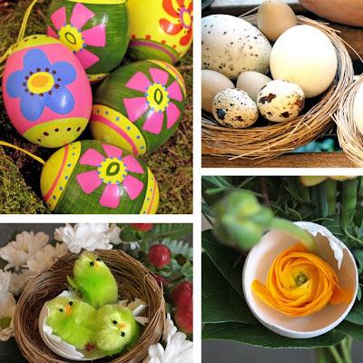 handmålade ägg, vaktelägg, rapphönsägg, kalkonägg, ranunkel