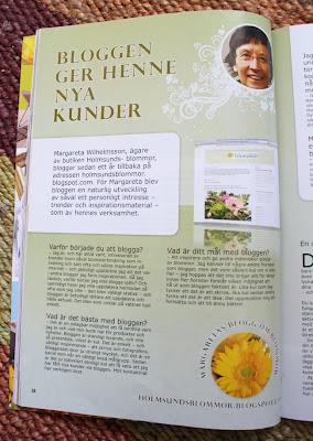 Euroflorist, Holmsunds blommor blogg