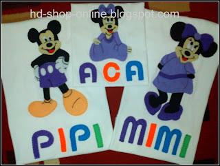 kaos keluarga mickey mouse
