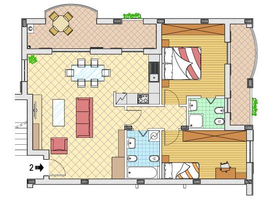 Idee con torte geografia for Foto di design della casa con planimetria