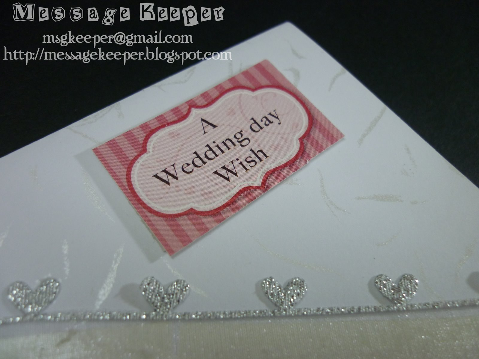 message keeper wedding wishes card 5 sample
