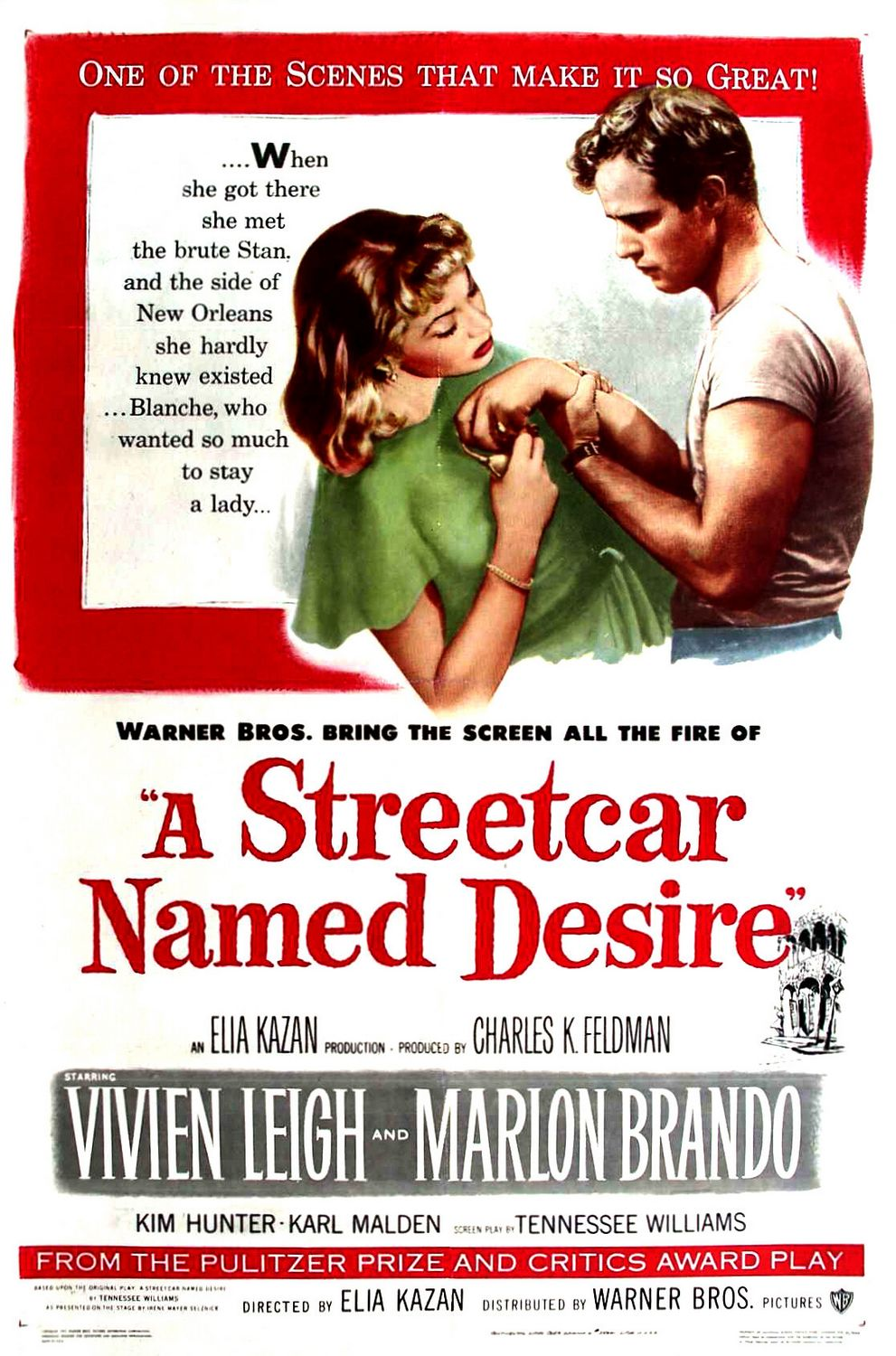 a streetcar named desire summary 2 This is the plot of tennessee williams's classic play, a streetcar named desire,  which opened on broadway on december 3, 1947 but the story of its making.