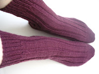 basic ribbed socks in purple