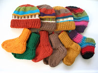 baby hats and socks for charity