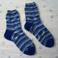 Blue socks for my mother