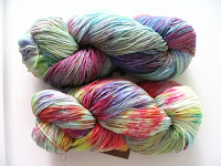 Araucania Multi sock yarn in tie-dye colors