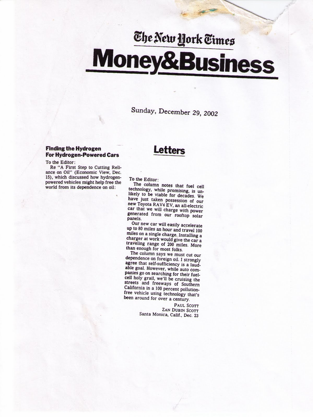 Evs and energy some historical perspective text of letter december 23 2002 spiritdancerdesigns Image collections
