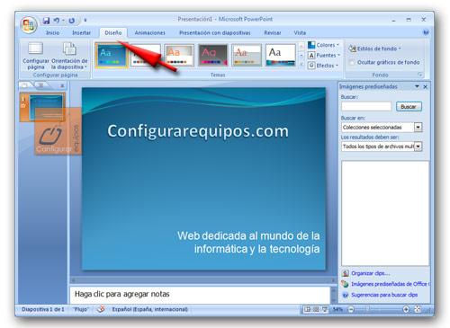 Powerpoint crear una presentacion guardarla tipos de vistas for Disenos de powerpoint