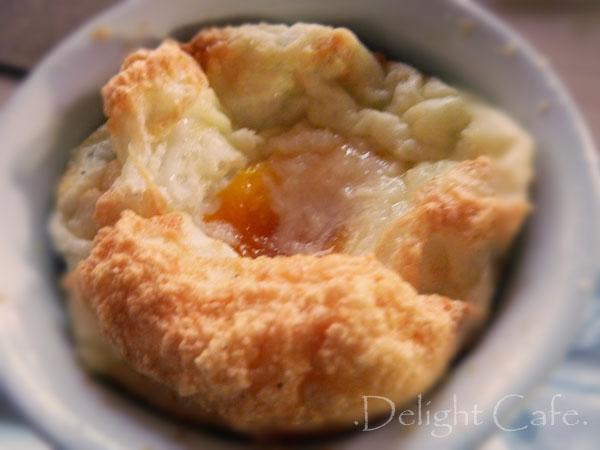 Souffled Cheddar Egg Nests