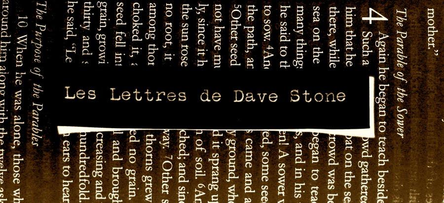 Les Lettres de Dave Stone
