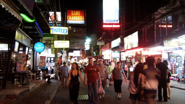 pattaya walking street. Pattaya walking street
