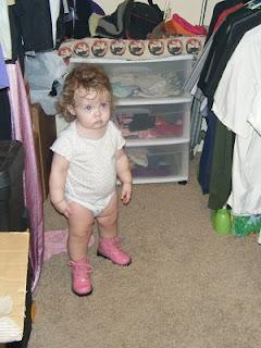 Sasha in Closet