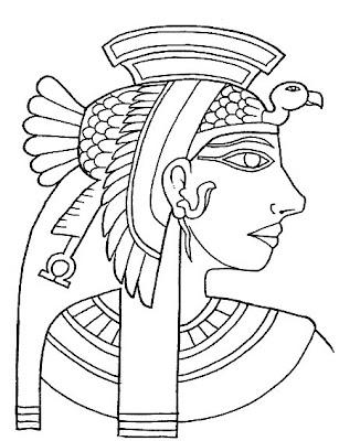 Egípcios para colorir