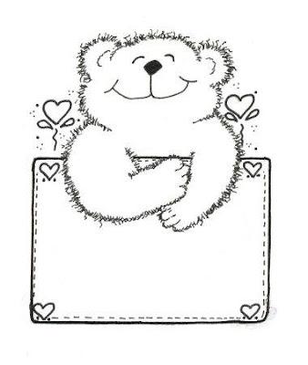 risco de ursinho apaixonado