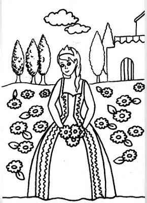 Bruxas e Princesas para Colorir