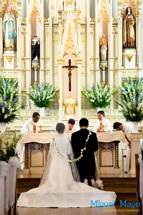Catholic church wedding sacred