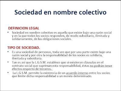 funcionamiento de la sociedad en nombre colectivo y en comandita: