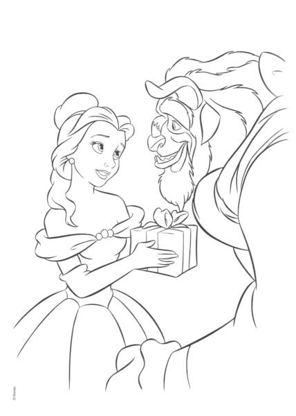 Disney Princess Belle Coloring Pages title=